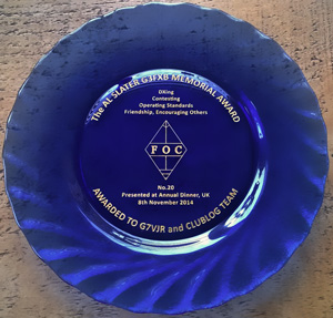 G3FXB 2014 Awarded to G7VJR - Club Log